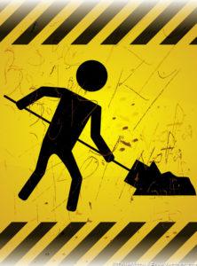 Work-in-Progress-Signboard